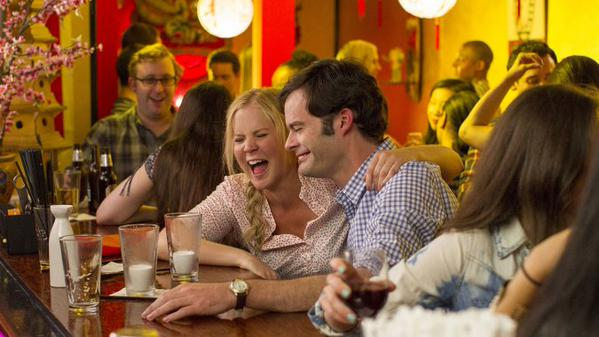 Bill Hader and Amy Schumer in Trainwreck