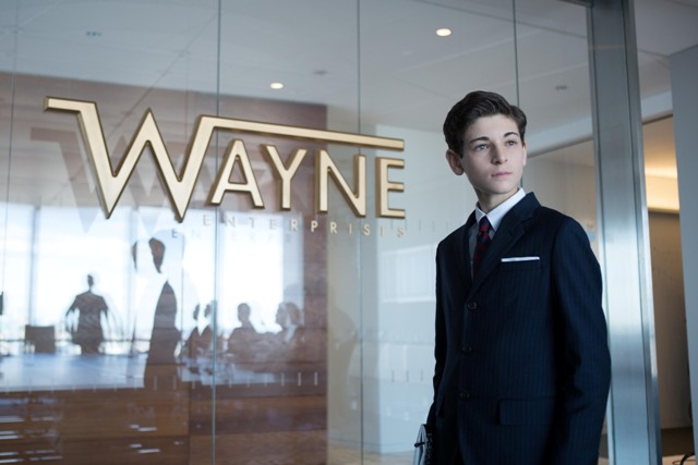 """GOTHAM: Bruce Wayne (David Mazouz, R) meets with the Wayne Enterprises board members in the """"The Blind Fortune Teller"""" episode of GOTHAM airing Monday, Feb. 16 (8:00-9:00 PM ET/PT) on FOX. ©2015 Fox Broadcasting Co. Cr: Jessica Miglio/FOX"""