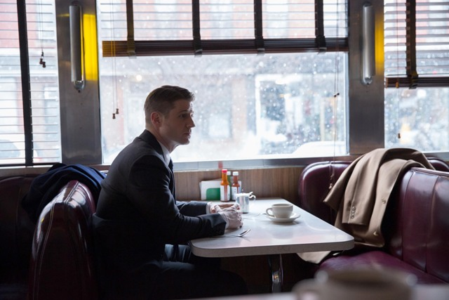 "GOTHAM:  Gordon (Ben McKenzie) contemnplates his new case in the ""Everyone Has A Cobblepot"" episode of GOTHAM airing Monday, March 2 (8:00-9:00 PM ET/PT) on FOX.  ©2015 Fox Broadcasting Co.  Cr:  Jessica Miglio/FOX"