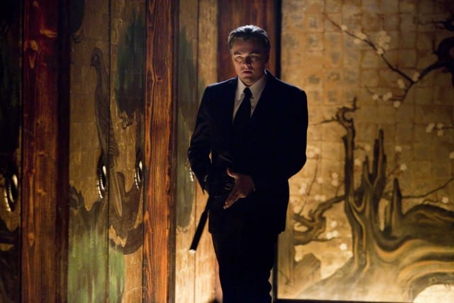 "LEONARDO DiCAPRIO as Cobb in Warner Bros. Pictures' and Legendary Pictures' sci-fi action film ""Inception,"" a Warner Bros. Pictures release. PHOTOGRAPHS TO BE USED SOLELY FOR ADVERTISING, PROMOTION, PUBLICITY OR REVIEWS OF THIS SPECIFIC MOTION PICTURE AND TO REMAIN THE PROPERTY OF THE STUDIO. NOT FOR SALE OR REDISTRIBUTION."