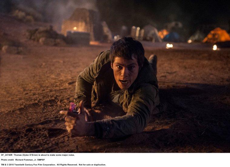 Dylan O'Brien in Maze Runner 2: The Scorch Trials