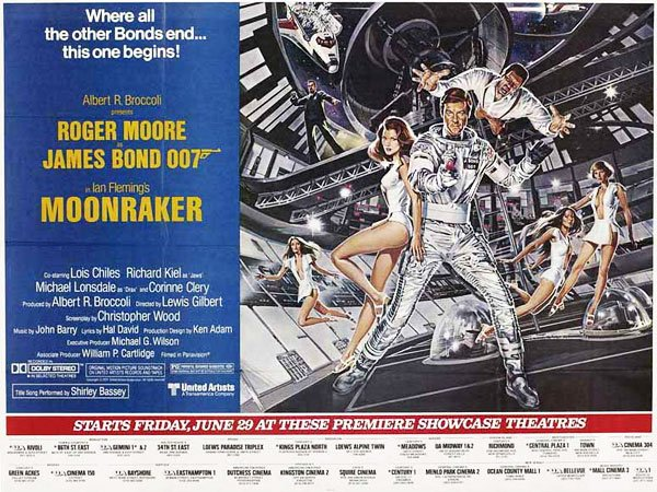 Roger Moore as 007 in the 1979 film adaptation, Moonraker.