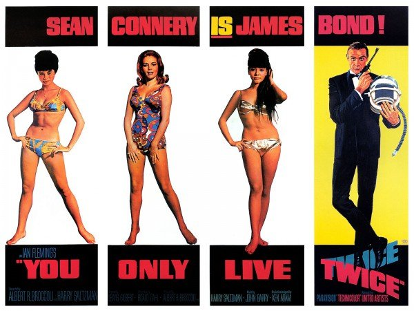"Sexy Bond girls from ""You Only Live Twice."""