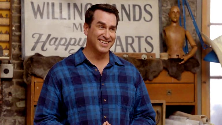 Rob Riggle in Playing House Season 2 episode Knotty Pine