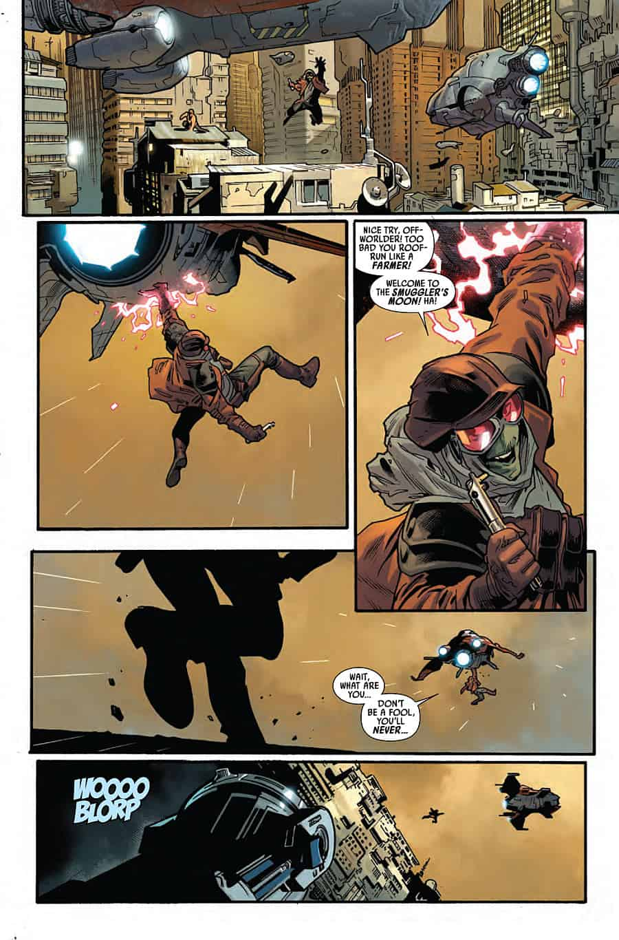 Star Wars #9 - Luke makes a crazy jump in pursuit of his lightsaber