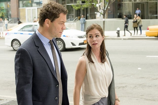 Dominic West and Maura Tierney