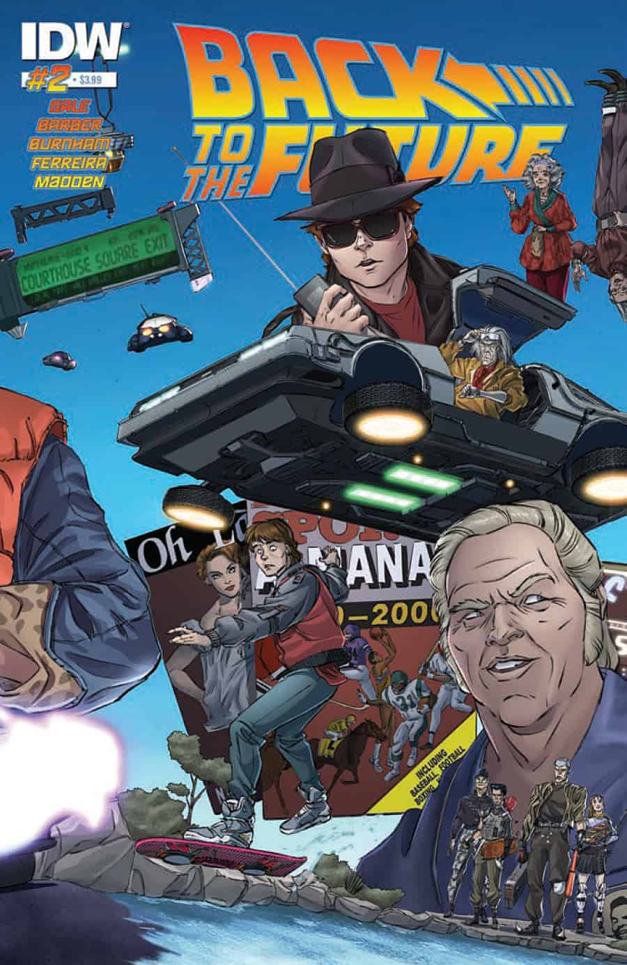 Back to the Future #2 - cover