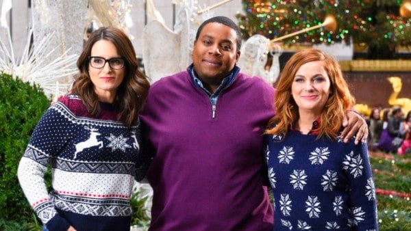 Funny people in Christmas Sweaters