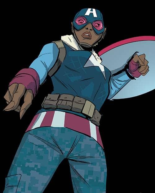 Samantha Wilson as Captain America