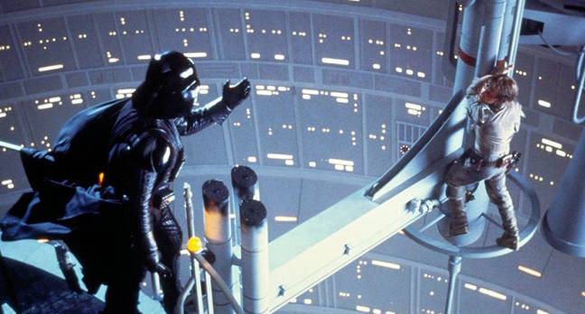 The infamous scene from 1980's Star Wars: The Empire Strikes Back.