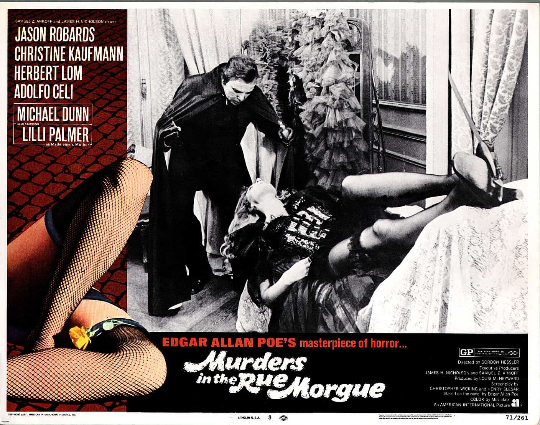 MURDERS IN THE RUE MORGUE-1971-FN-VF-LOBBY CARD-HORROR-HERBERT LOM