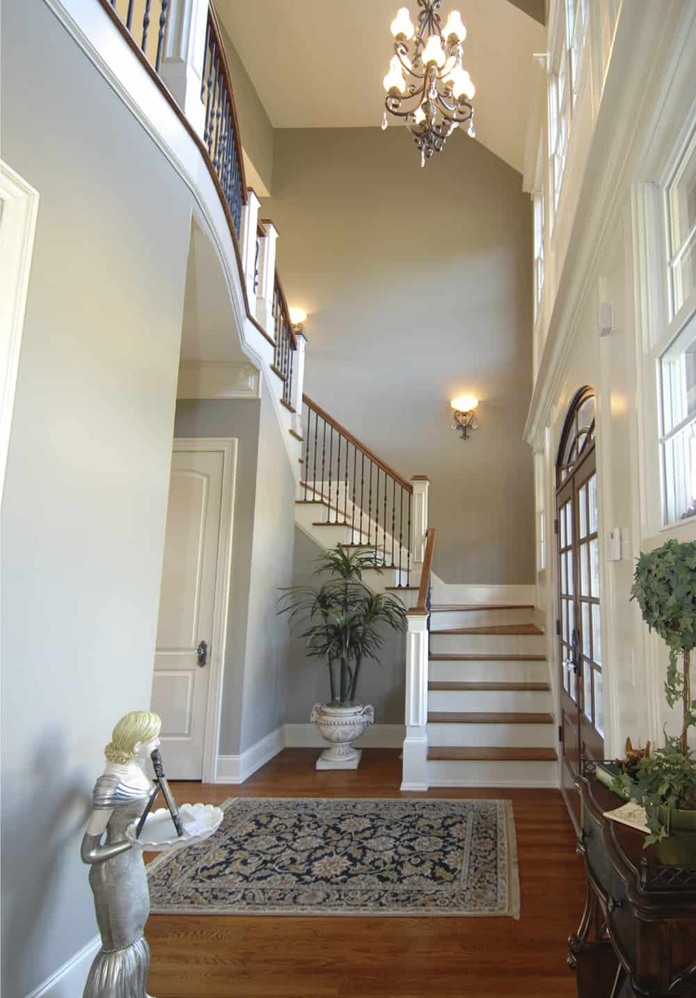 Front Foyer Staircase : Top best foyer designs