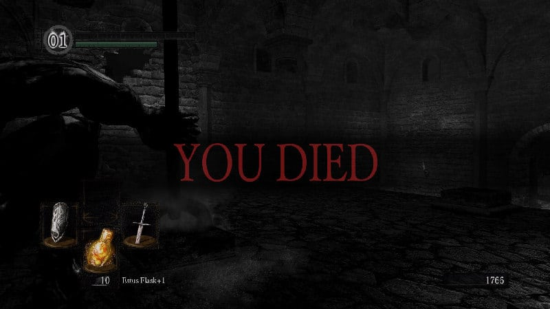 Dark Souls fans may find themselves becoming oddly fond of this familiar screen.