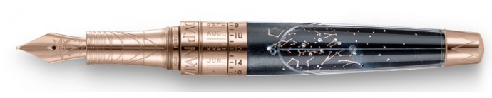 1-Caran dache Caelograph Zenith Gold Fountain Pen