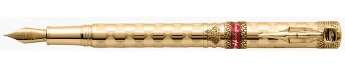 6-Montegrappy Senna Champion Gold Foutnain Pen