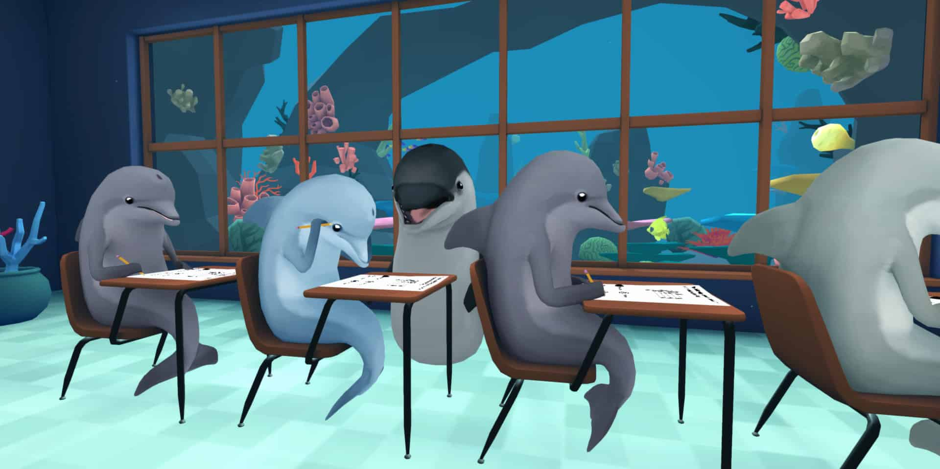 Cheat your way to Success in 'Classroom Aquatic', a Fintastic VR Experience