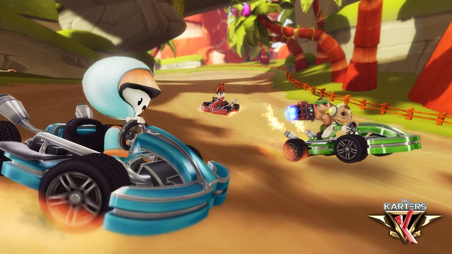 'The Karters' blends Dynamic Cartoon Racing with Serious Attitude