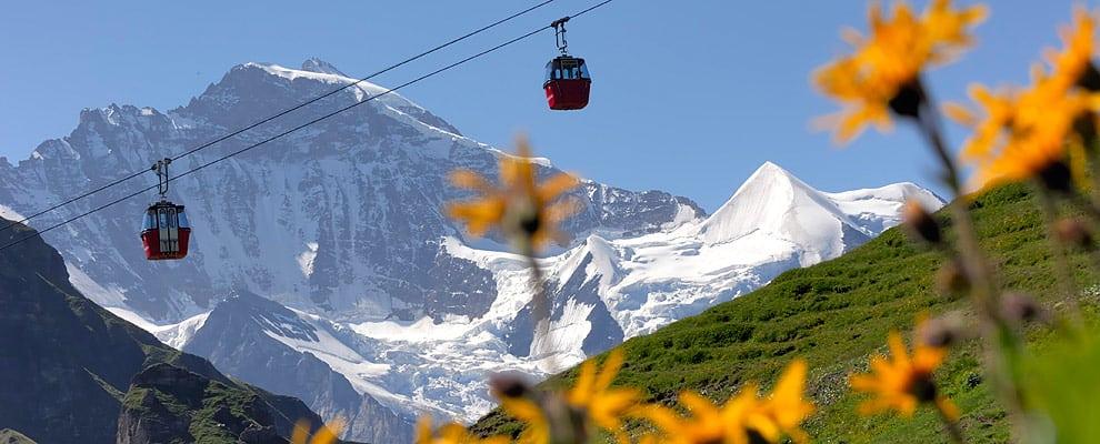 Grindelwald-Mannlichen Gondola Cableway, Switzerland – 7,300 feet