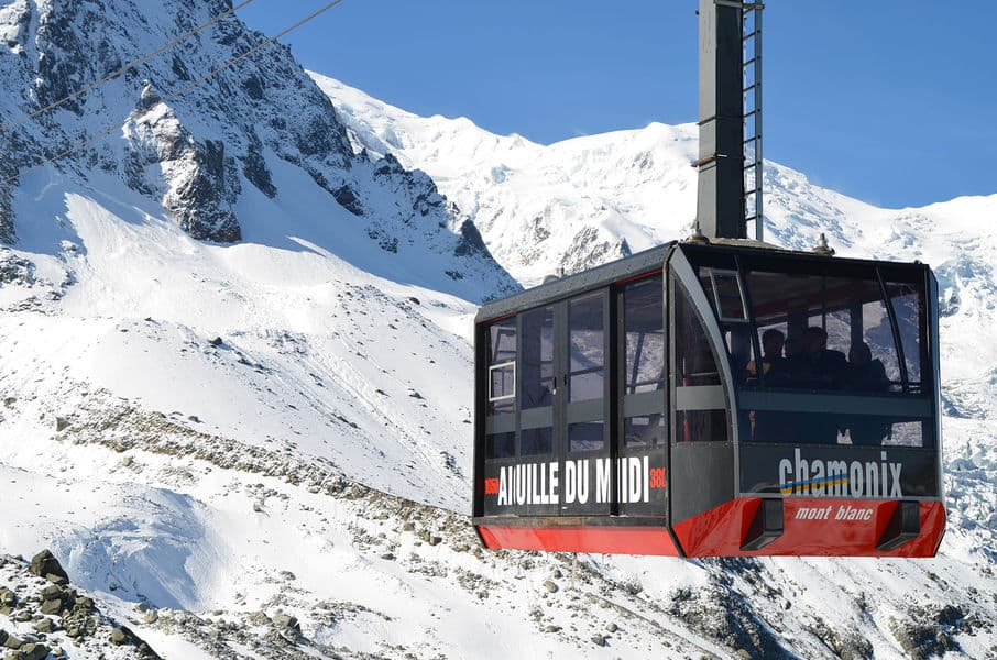 Telepherique de l'Aiguille du Midi, Chamonix, France – 12,605 feet