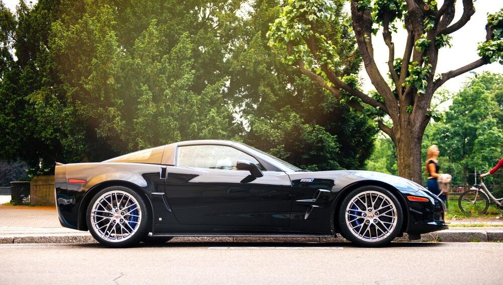 Corvette ZR1 C6 nicknamed The Blue Devil luxury sports car.