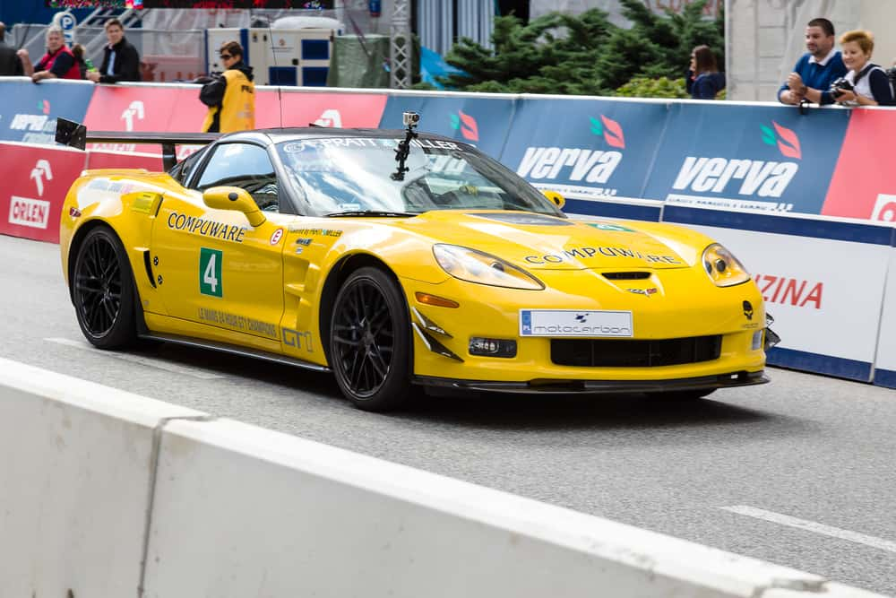 """Chevrolet Corvette GT1 during the third automotive show """"Verva Street Racing"""" on 15 September, 2012 in Warsaw, Poland."""