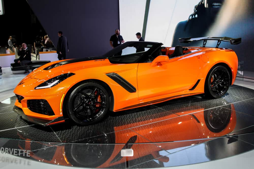 Corvette ZR1 shown at the New York International Auto Show 2018 on March 28, 2018.