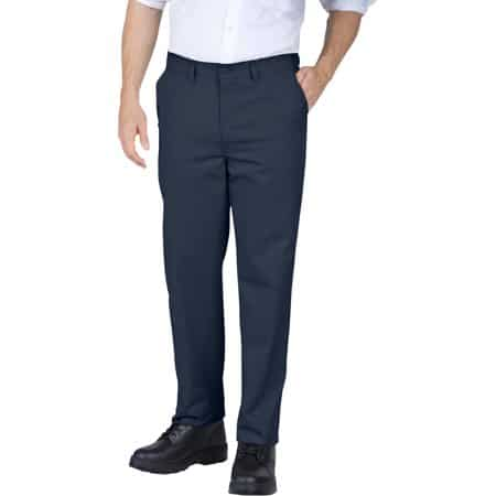 Genuine Dickies Men's Slim Fit Straight Leg Flat Front Pants
