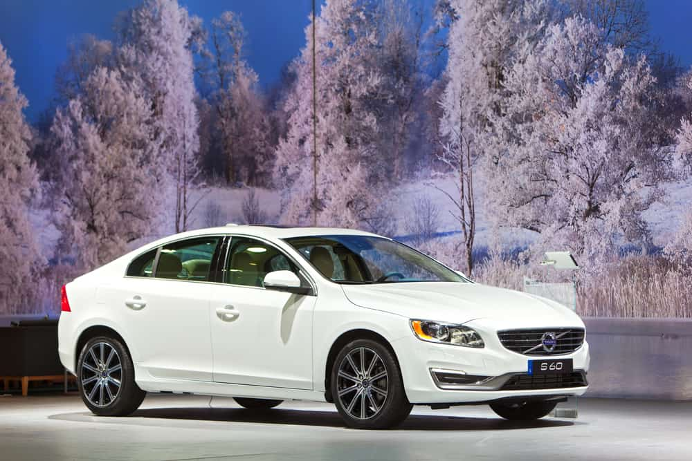The Volvo S60 sedan at the North American International Auto Show media preview January 12, 2017 in Detroit, Michigan.