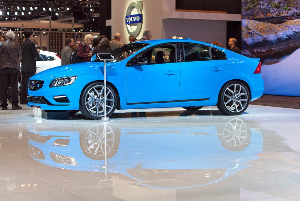 Volvo S60 on display at the Chicago Auto Show media preview February 6, 2014 in Chicago, Illinois.