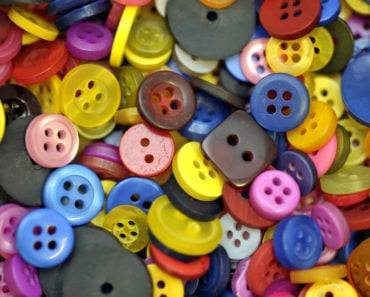 A pile of assorted buttons.