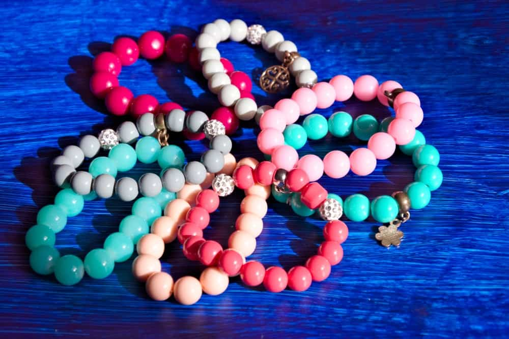 Beaded bracelets of different colors