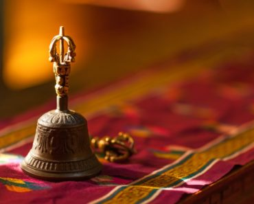 Antique bell used mainly for religious purposes
