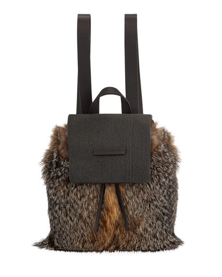 Brunello Cucinelli Fox Fur backpack