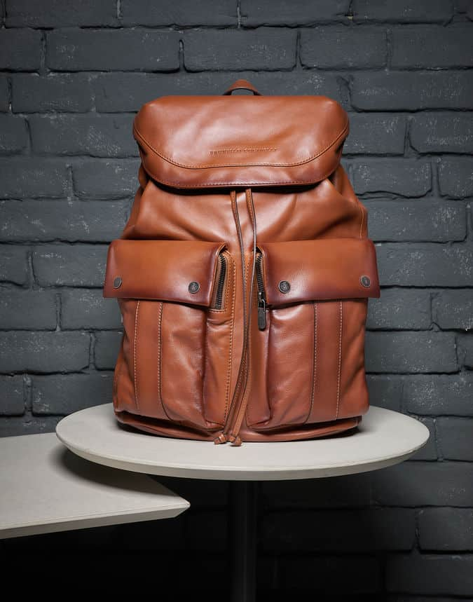 Brunello Cucinelli leisure backpack calfskin