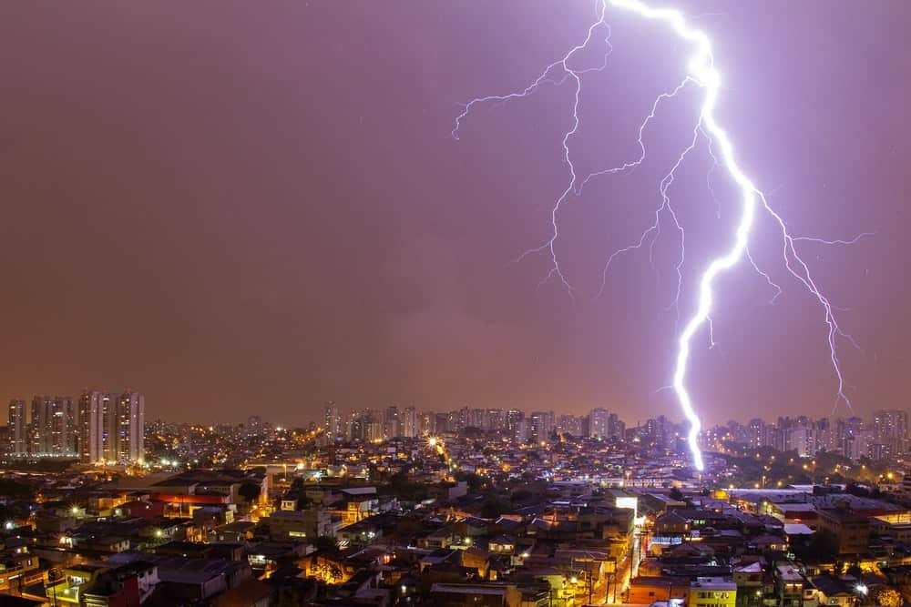 In the United States, the chance of being struck by lightning during your lifetime is one in 3,000.