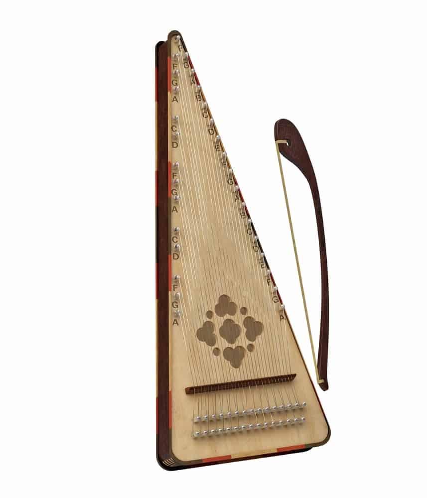 Psaltery harp