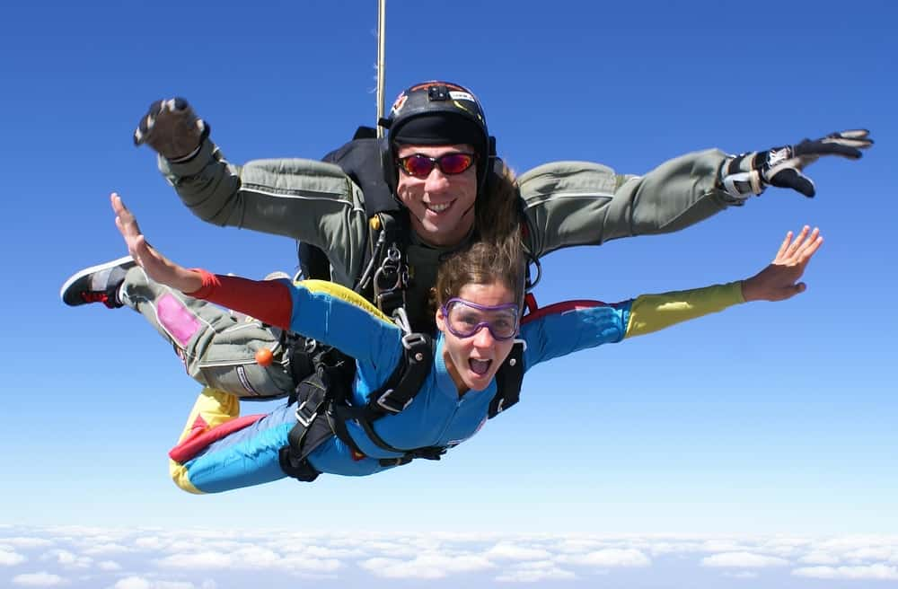 Skydiving as an expensive hobby