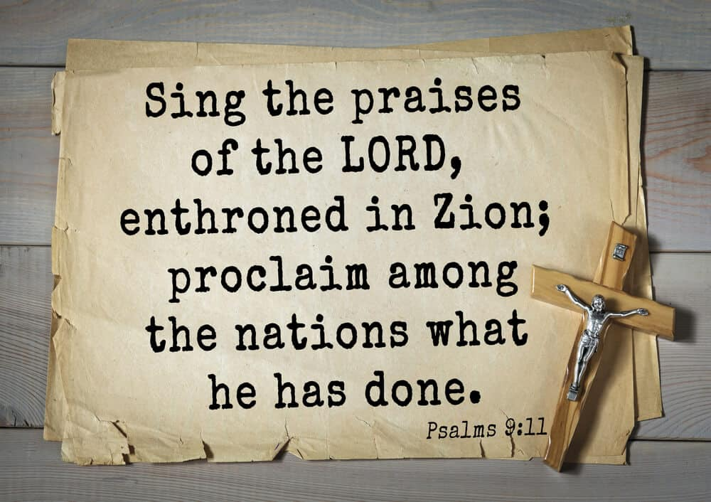 Part of Psalms that talk about the song of Zion.