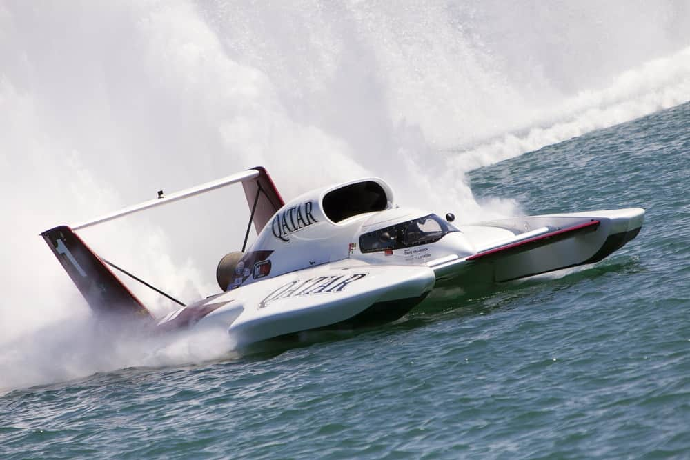 Speed boat racing as an expensive hobby