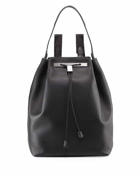 The Row Backpack 11 leather bag black