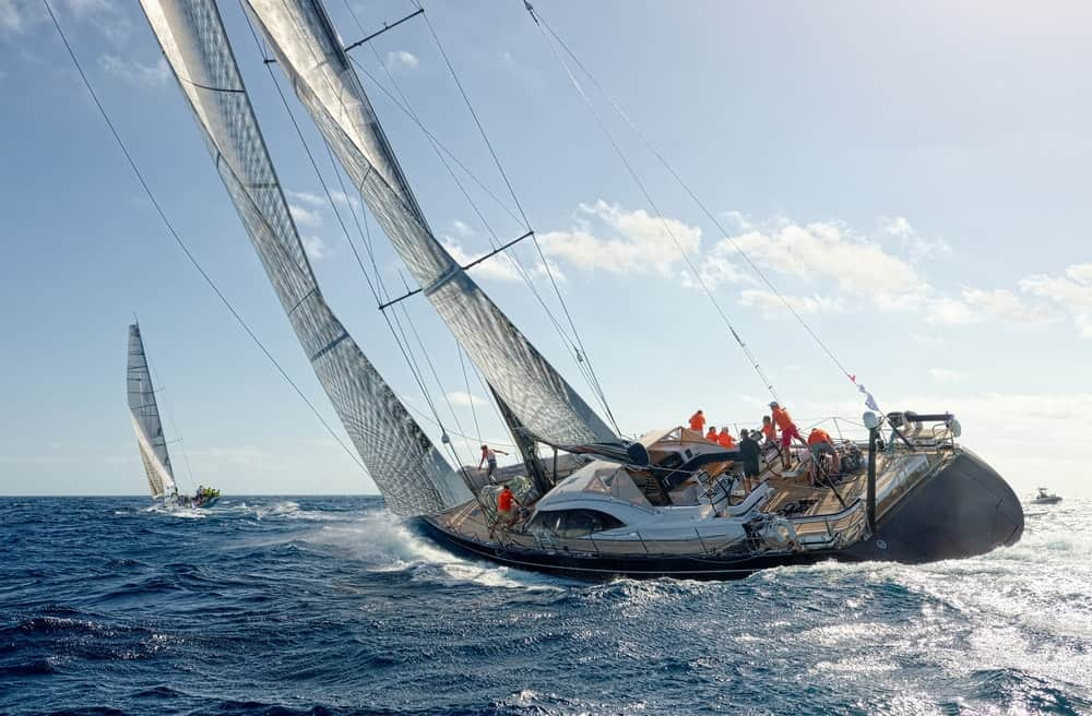 Yacht racing as an expensive hobby