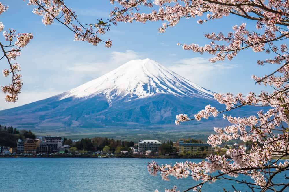 Mt. Fuji as an example of a composite volcano