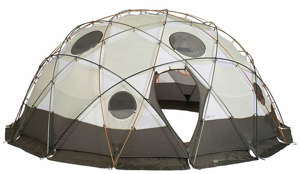Gray, ten-people tent.