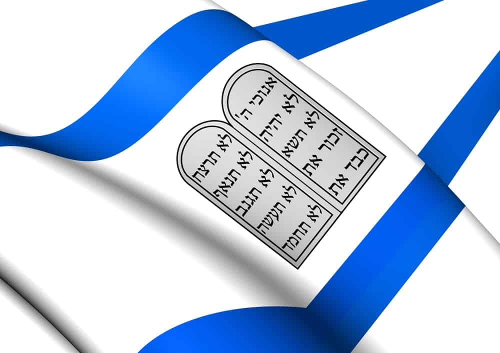 Theocracy flag of Israel.