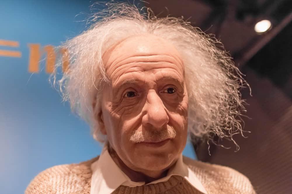 Wax figure of Albert Einstein