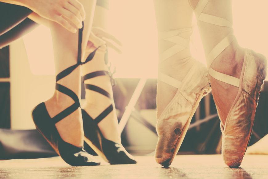 Ballet dancers in a dance studio