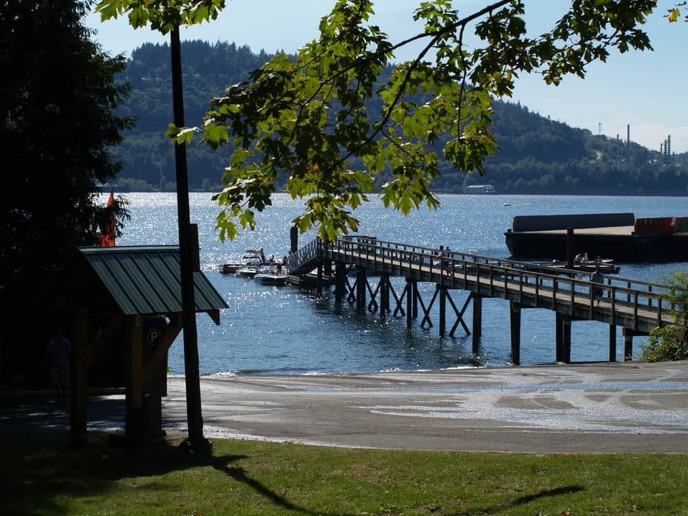 Boat launch at Cates Park in North Vancouver, BC