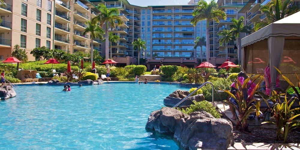 Honua Kai resort tower and family pool