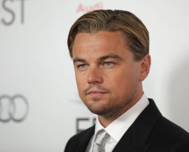 Leonardo Dicaprio with nicely slicked hair with gel