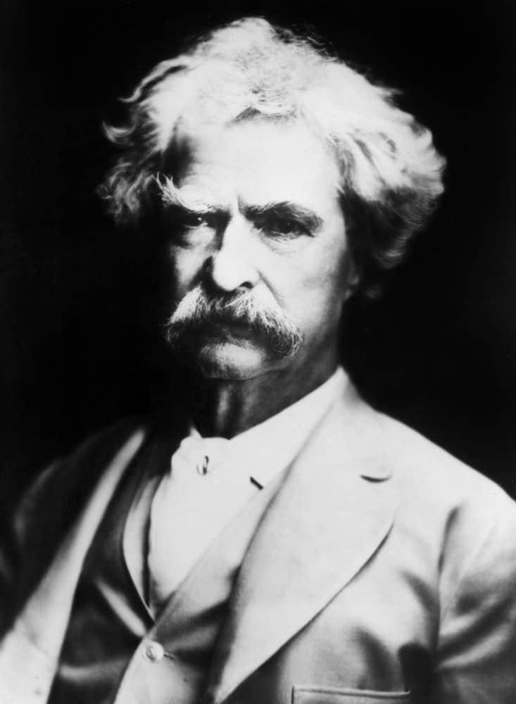 Mark Twain with bushy mustache
